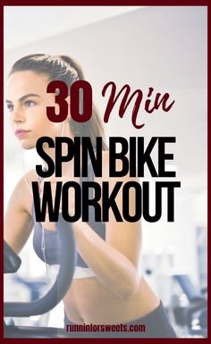 This 30 minute spin workout routine is the ultimate way to burn calories indoors. Challenge yourself to the intervals in this indoor cycling workout! The ultimate hiit workout on the stationary bike. This 30 minute workout is a fun way to burn massive calories! #spinworkout #indoorcyclingworkout #spinclass Home Weight Workout, Beginner Workout At Home, Workout For Beginners, Spin Bike Workouts, At Home Workouts, Workout Ideas, Workout Challenge, 45 Minute Workout, Cross Training Workouts