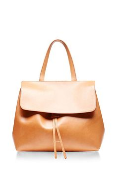 Mansur Gavriel - Vegetable Tanned Lady Bag in Cammello with Rosa