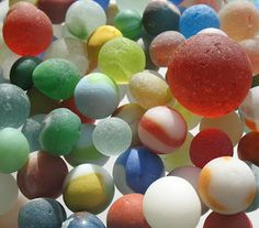 The Sea Glass Blog: Sea Glass Marbles - How Do They End Up On The Beach?