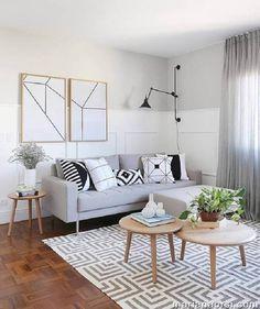 Sofás modernos: 80 modelos cheios de estilo e conforto para a sala Minimalist Decor, Home Staging, Decoration, Cool Furniture, Sofas, Living Room Decor, House Design, Interior Design, Home Decor