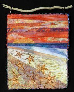 Fiber Art Quilts-Beachscape