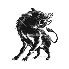 Angry Wild Hog Razorback by patrimonio on Scratchboard style illustration of an angry wild hog, feral pig, wild boar or razorback roaring viewed from low angle in front done on scraperboard on isolated background. Pig Illustration, Watercolor Illustration, Retro Illustrations, Pig Drawing, Drawing Sketches, Feral Pig, Scratchboard, Wild Boar, Creative Sketches