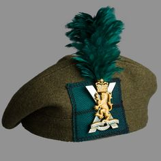 Tam O'Shanter with green hackle worn by all soldiers serving in Balaklava Company, 5th Battalion The Royal Regiment of Scotland (SCOTS). #SCOTS #Highlanders #Headdress