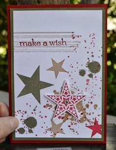 It's Back! Gorgeous Grunge and Star Christmas Card, Simply Stars, Sweet Sentiments. Christies Creative Corner. Stampin' Up!