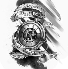 Respect The Past.. Create The Future... Tattoo Design Ideas For Her.