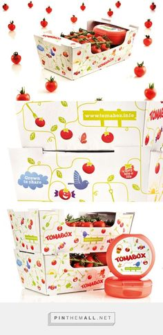 Stoffels tomabox packaging by Quatremains curated by Packaging Diva PD. For unique Stoffels identity they created a design which shows the values of authentic, sustainable, and locally grown tomatoes.