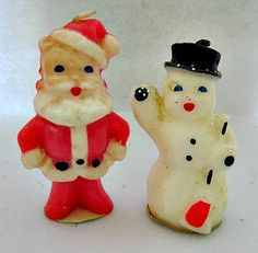 Vintage candles from the 50s...We had these and others as well. I loved them.