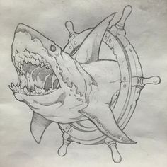 Tatto Ideas 2017 Scott on Instagram: Hi Bruce! #shark #neotraditional #bluebyrdtattoo #dayton #ohio