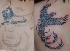 tattoo cover up before and after