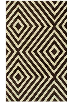 geometric design Zuel rug -- Black/White geometric rug prints are my fave.