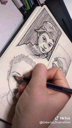 Art Drawings Beautiful, Art Drawings Sketches Simple, Pencil Art Drawings, Cool Drawings, Art Tips, Art Sketchbook, Aesthetic Art, Art Tutorials, Watercolor Art