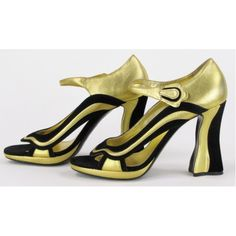 Prada Leather and Suede 'Wave'  Heel from 2008 Fairy Runway Collection