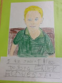 The Pre-Kindergarten students are writing about themselves during Writers' Workshop.