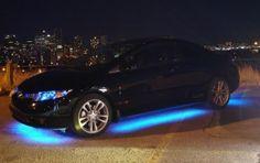 Blue underbody lights