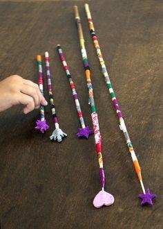 zauberstäbe varita magica magic wand manualidad craft basteln kinder niños kids