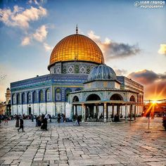 Beautiful Mosques, Beautiful Places, Islamic World, Islamic Art, Israel Country, Jerusalem Travel, Mosque Architecture, Dome Of The Rock, Holy Land