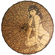 Bettie Page Leopard Parasol, $20, now featured on Fab.