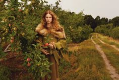 """The Fall Classic"" Natalia Vodianova By Annie Leibovitz For Us Vogue October 2014"