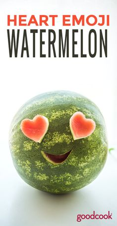 How to Make a Watermelon Emoji for your Next Party | watermelon, creative, ideas, fruit, vegan, vegetarian, raw, fun food, kids, recipe, cooking, craft, kitchen craft