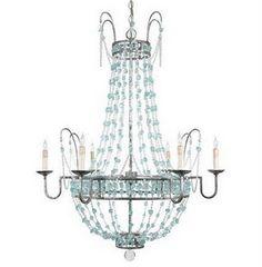 DIY chandelier inspiration - http://livinglivelier.blogspot.com/2011/05/beaded-waterfall-chandelier-diy.html
