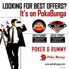 Its feels great when monday turns out to be rewarding and brings along amazing offers. PokaBunga believes in providing its players with the best offers in the industry.. Why look beyond when we bring it to you... visit www.pokabunga.com to know more. Ek Game Ho Jaye!!!