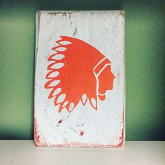 Native American Head With Head dress Handmade Wooden Sign Plaque Art Present | eBay