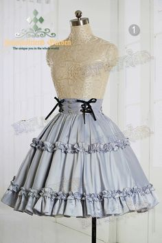 Scented Corsage: Classic Lolita High Waist Skirt*4colors