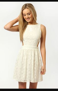 Beautiful lacy dress in cream off-white