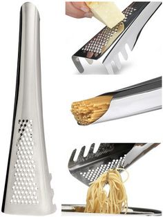 Pasta Server with Cheese Grater and Measurer design by Sagaform Stainless steel / Sagaform stands for joyful, innovative gifts for the kitchen and the set table. Cool Kitchen Gadgets, New Gadgets, Cool Gadgets, Cool Kitchens, Dream Kitchens, Travel Gadgets, Kitchen Buffet, Kitchen Utensils, Serving Utensils