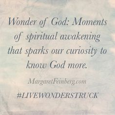 Are you Spiritually Asleep? (Plus What in the World is Wonderstruck Wednesday?) - MargaretFeinberg.com