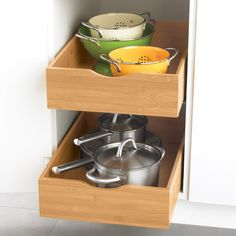 Bamboo Roll-Out Cabinet Drawers. Need to confirm if this will work with my cabinets. 11x21 to 20x21 $54-$