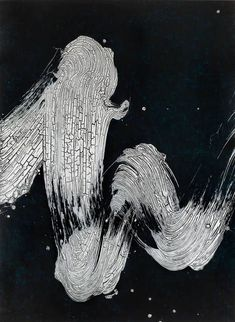 Fabienne Verdier I Mélodie du réel I, 2014 Ink, pigments and varnish on canvas 183 × 135 cm Action Painting, Black And White Painting, White Art, Art And Illustration, Abstract Painters, Abstract Art, Art Zen, Music Drawings, Art Japonais