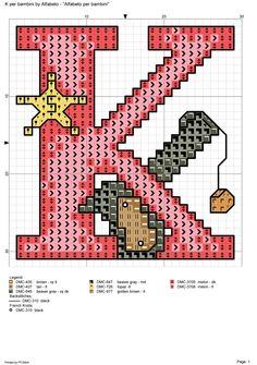 Alfabeto per bambini p alfabeti a punto croce for Lettere alfabeto punto croce per bambini