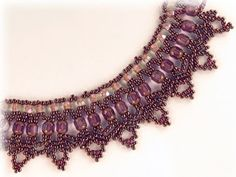 Free Bead Patterns and Ideas by Sandra D Halpenny : Lace Lanterns Necklace Pattern - Free Pattern