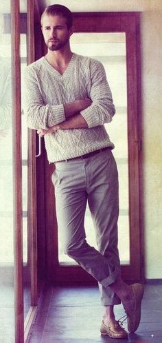Isnt this Grey V-neck Sweater astonishing                                                                                                                                                                                 More