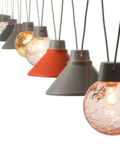 Glass pendant #lamp SHIBUYA by ZERO | #design Thomas Bernstrand