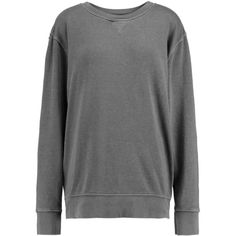 Current/Elliott The Stadium cotton-blend French terry sweatshirt ($140) ❤ liked on Polyvore featuring tops, hoodies, sweatshirts, dark gray, relaxed fit tops, current/elliott, sweat shirts, zip top and zip sweatshirt