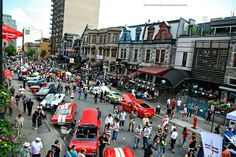 Downtown Montreal, Quebec Canada during F1