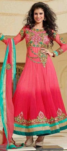 402555: Anarkali collection modeled by Bollywood actress TINA DESAI. Shop her wardrobe now.