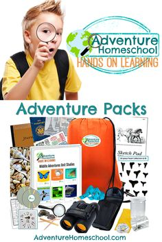 NEW Adventure Packs - Hands on Learning Kits come with 3 different options - 10 weeks of Unit Studies (or 4) and everything you need to get kids excited about learning!
