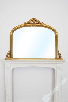 Large Ornate Gold Over Mantle Shabby Chic Big Wall Mirror 4Ft2 X 3Ft 126 X 91cm | eBay