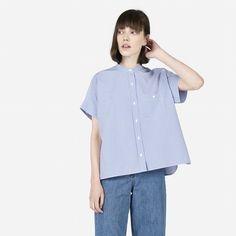 Everlane: The Striped Cotton Poplin Square Shirt, $55, size 6