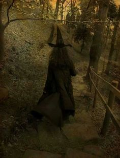 A Witch Alone. It's the movement in this pic that's freaky.. Like she's right behind you .. Feel it?