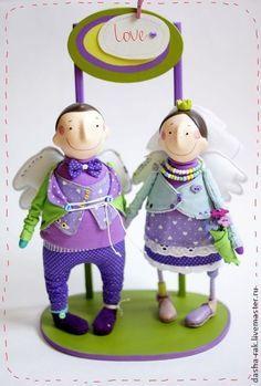 Коллекционные куклы ручной работы. Ярмарка Мастеров - ручная работа СерЁжа+Саша равно лове и хэппи. Handmade.