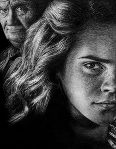 Hermione Granger and Slughorn by =Diamond4girl on deviantART