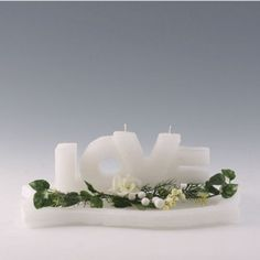 Hochzeitskerze LOVE Candle Holders, Candles, Candle, Casamento, Newlyweds, Celebration, Gifts, Decorations, Nice Asses