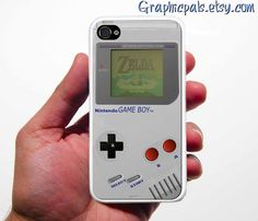 Classic Gameboy iPhone Silicone Rubber  Fitted Case by Graphicpals, $15.00