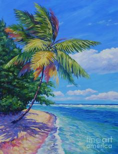 John Clark - Art (Page of Seascape Paintings, Landscape Paintings, Jamaican Art, Fine Art Amerika, John Clark, Palm Tree Art, Caribbean Art, Tropical Art, Painting Edges