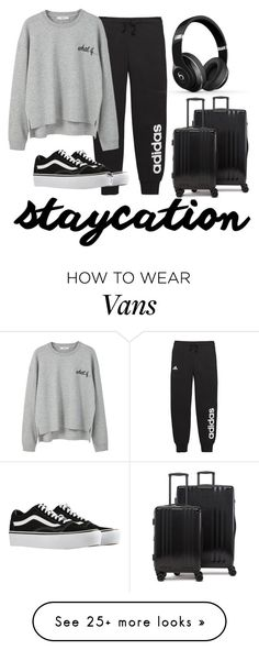 """""""Staycation // Contest"""" by mariastrong on Polyvore featuring adidas, MANGO, Vans, CalPak and Beats by Dr. Dre"""
