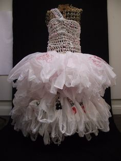 plastic bag dress